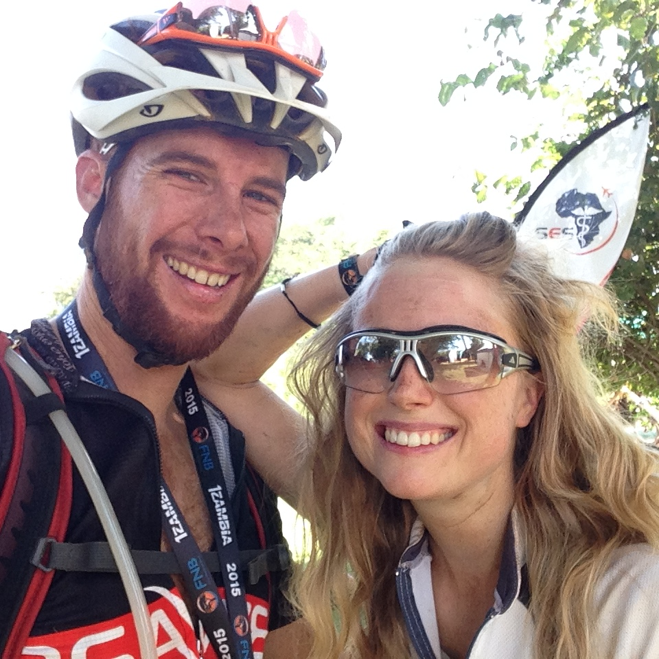 Happily and safely at the finish at the Zambezi