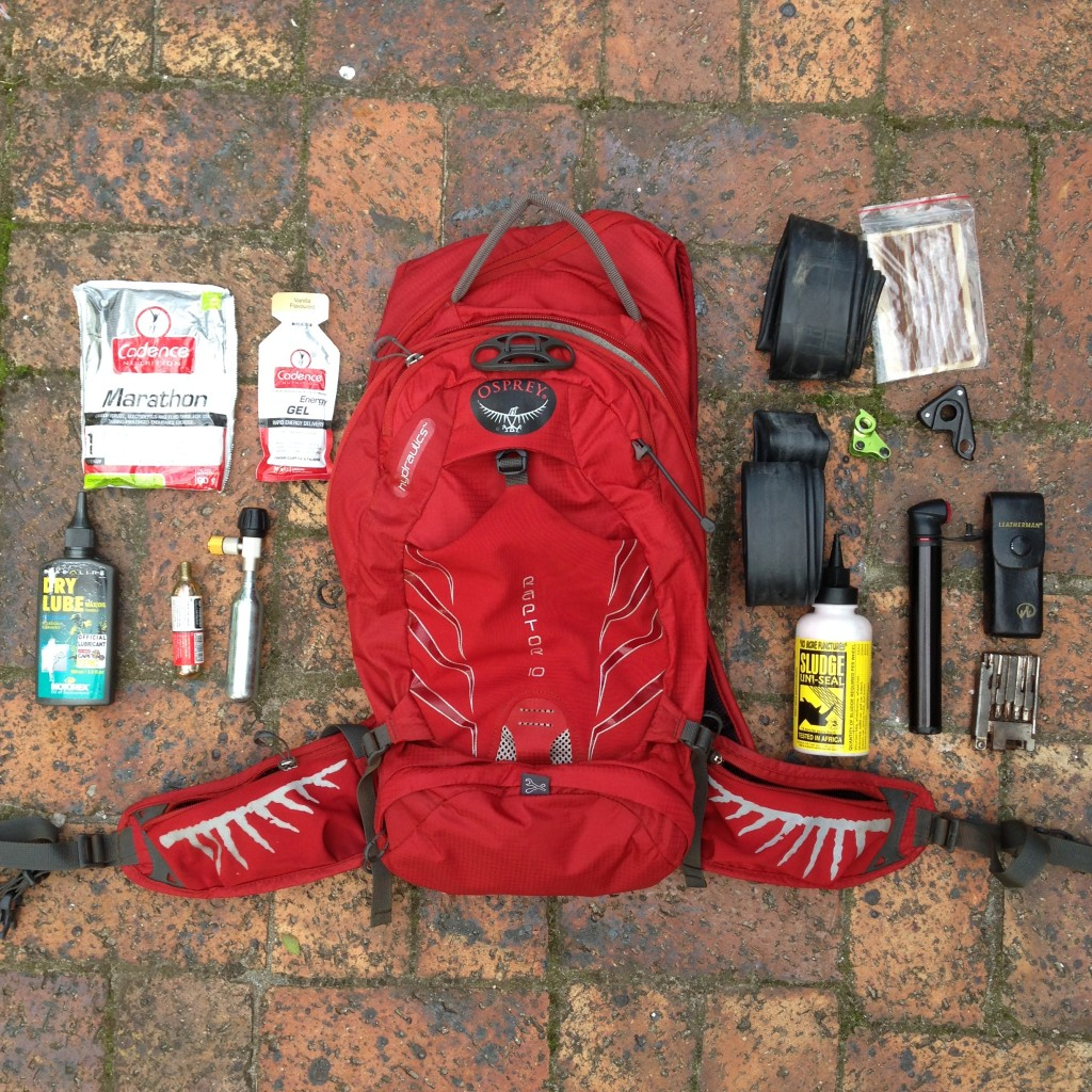 Osprey Pack trail necessities
