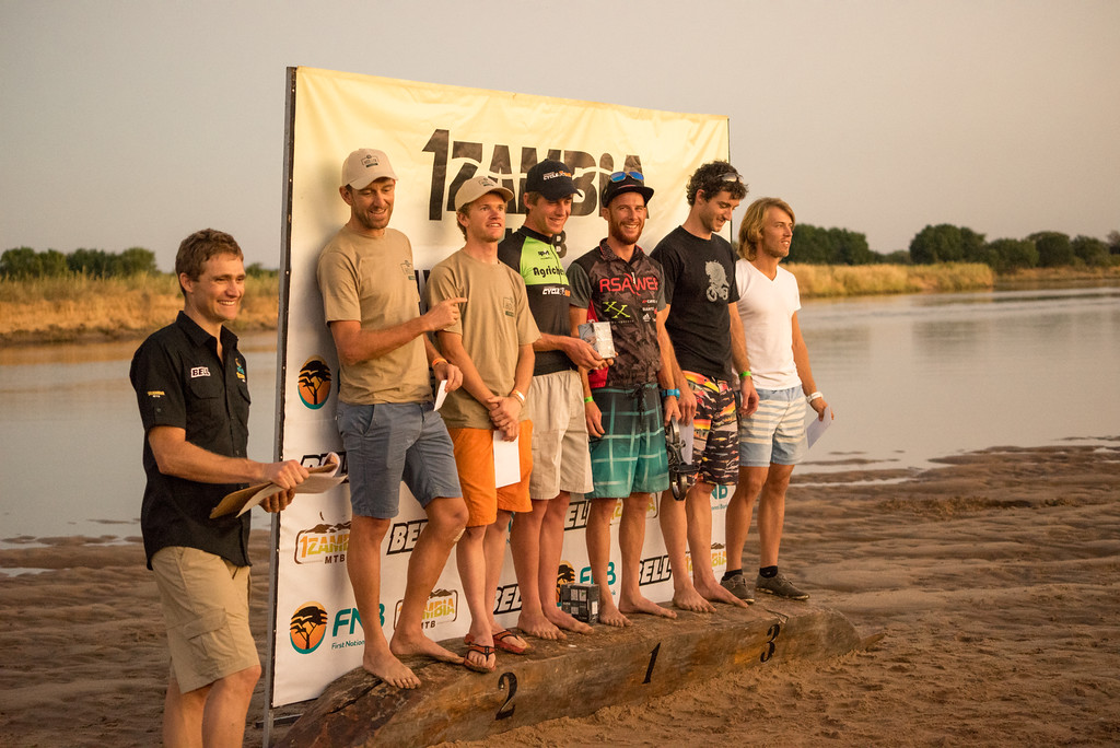 Prize giving on the sand bank